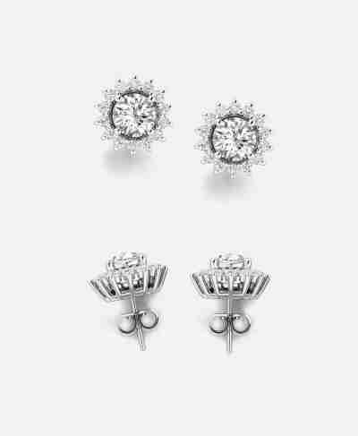 Diamond Stud Earrings With Jackets - Guthrie's Jewellers
