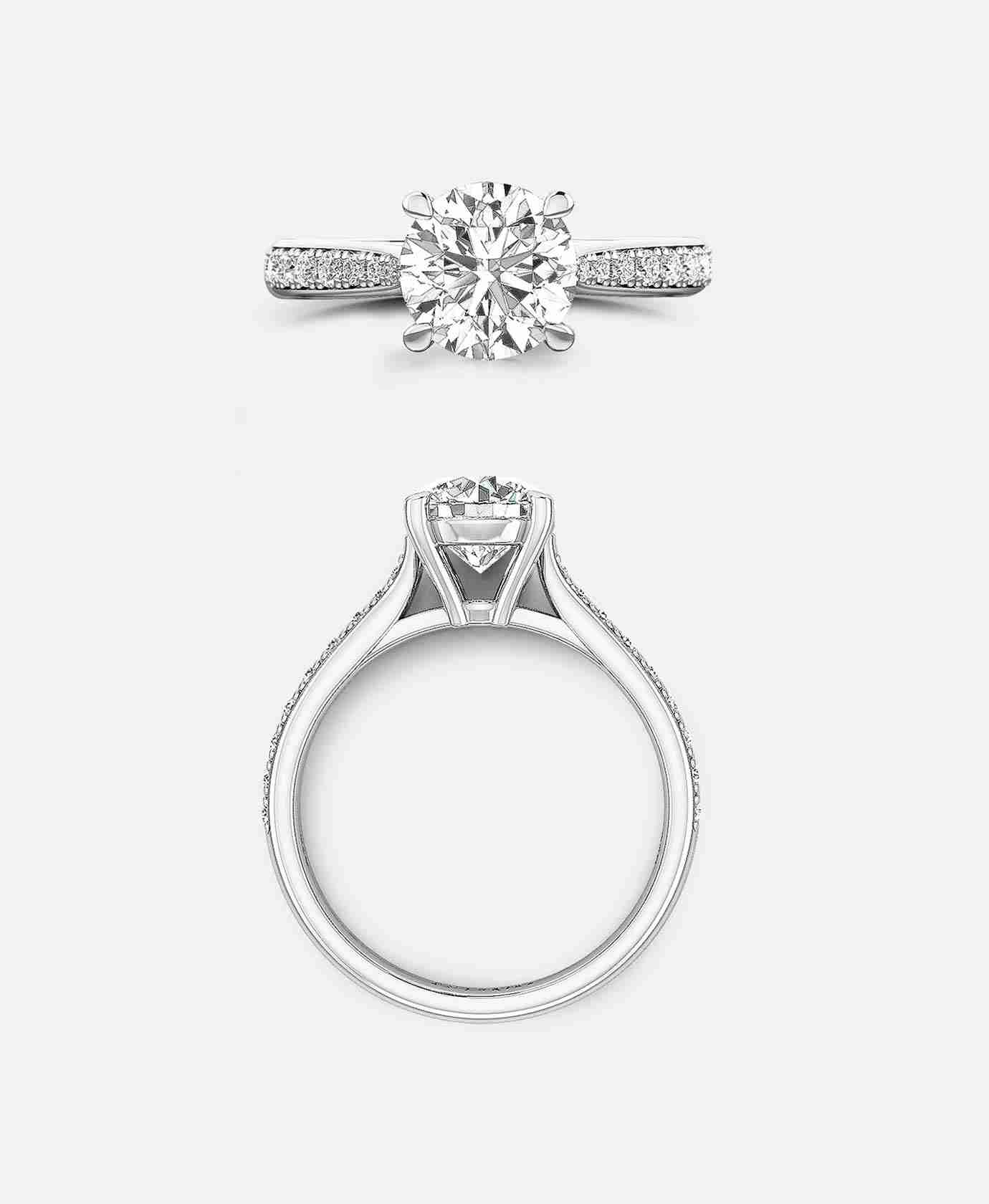 Laugier Setting, Channel Set Engagement Ring