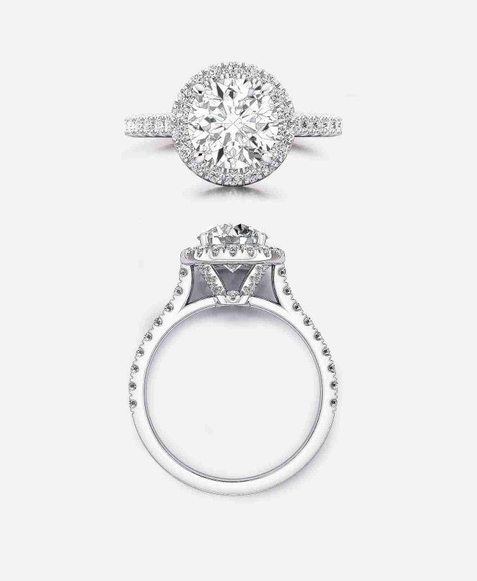 Guthries Jewellers Marylebone Setting - Halo Engagement Ring