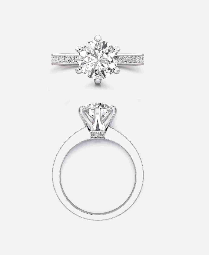 Arthur Setting, Diamond Band Engagement Ring