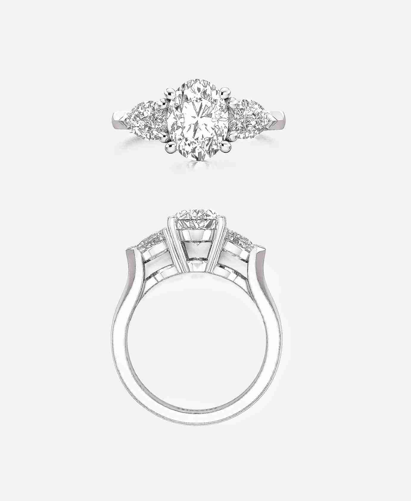 Belfort Setting Oval Cut Engagement Ring