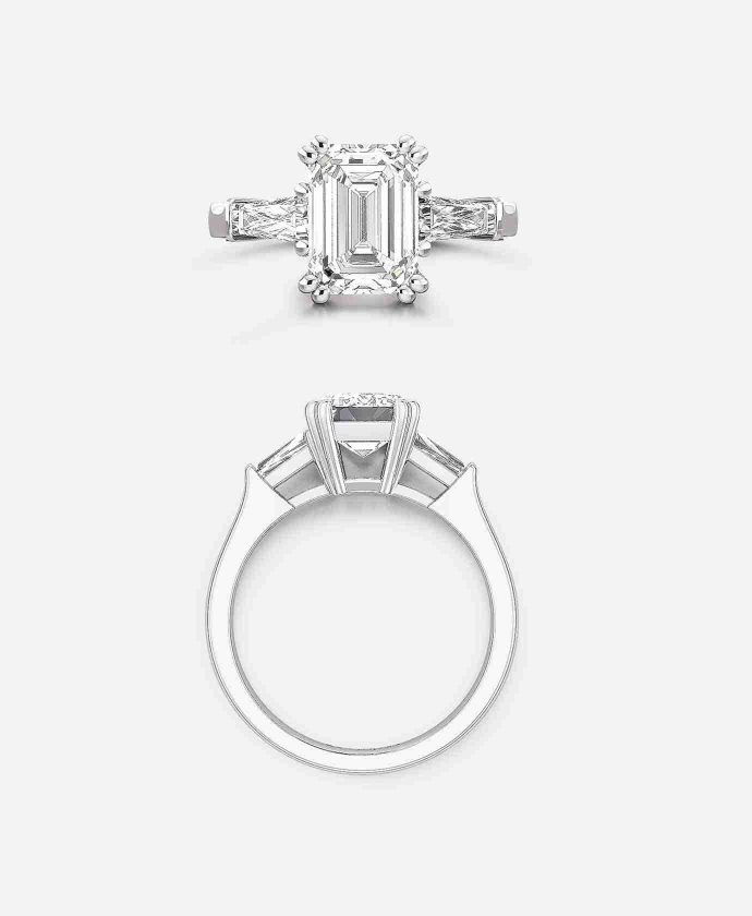 Guthrie's Bowery Setting - Emerald Cut Engagement Ring