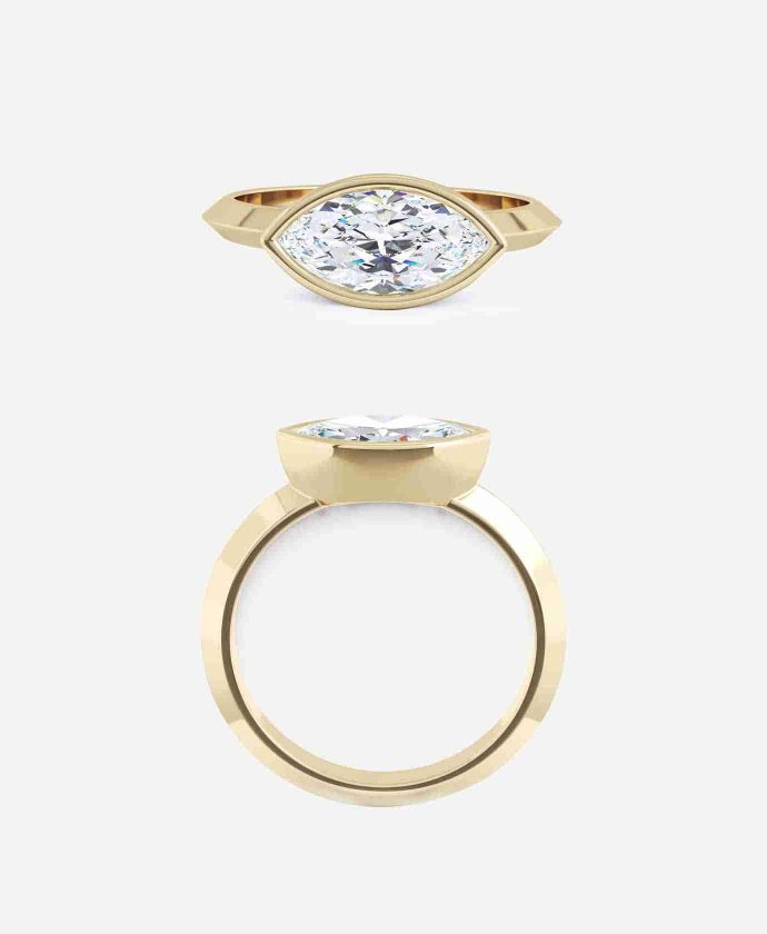 Monte Setting Marquise Cut Diamond Ring