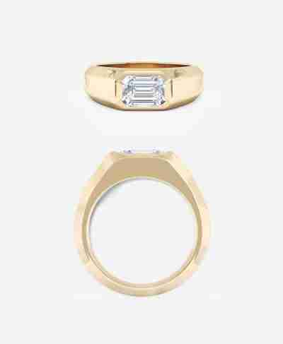 Affori Setting, Emerald Cut Engagement Ring