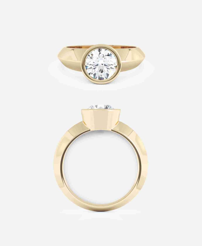Fiera Setting Round Brilliant Engagement Ring