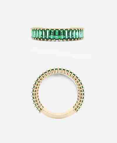 Emerald Baguette Cut Band - Guthrie's