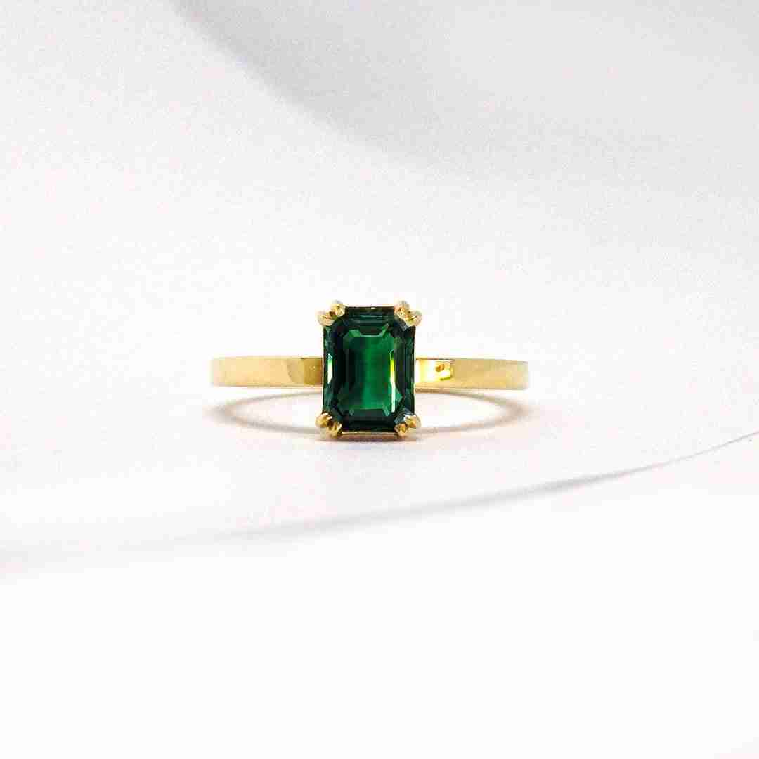 Tourmaline Engagement Ring Commission by Guthrie's Jewellers